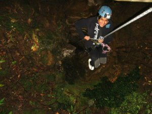 Under Water Cave Abseil